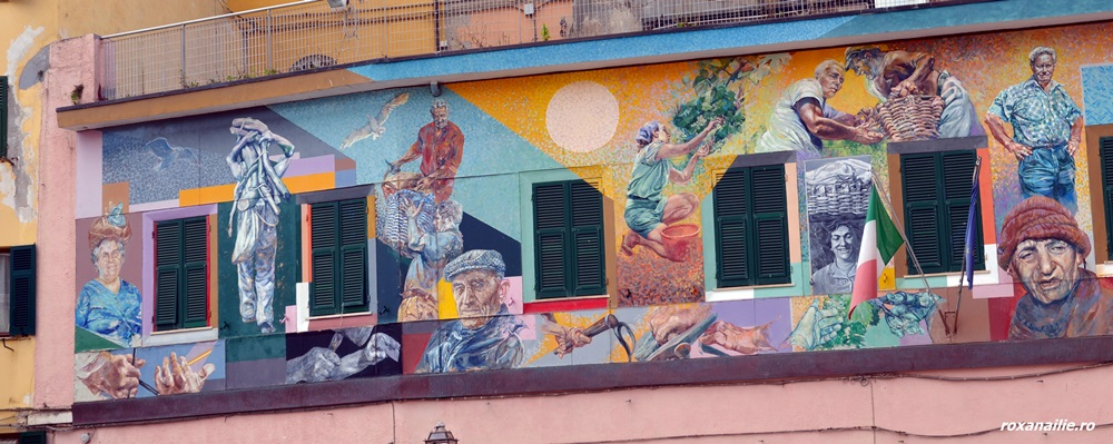 Arta urbană din Manarola, chipul în culori al oamenilor locului