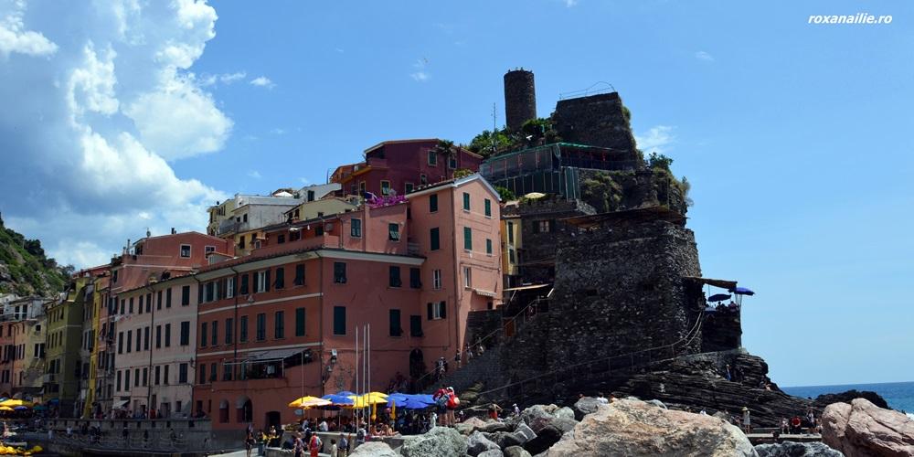 Castello Doria din Vernazza, griul meu într-o mare de culoare