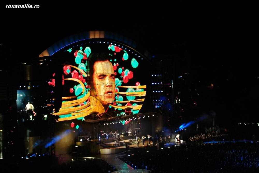 Show-ul Robbie Williams – culoare, lumina, charm
