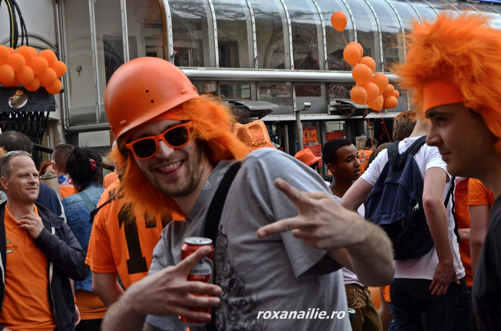 Yo, man! That's the spirit of King's day!