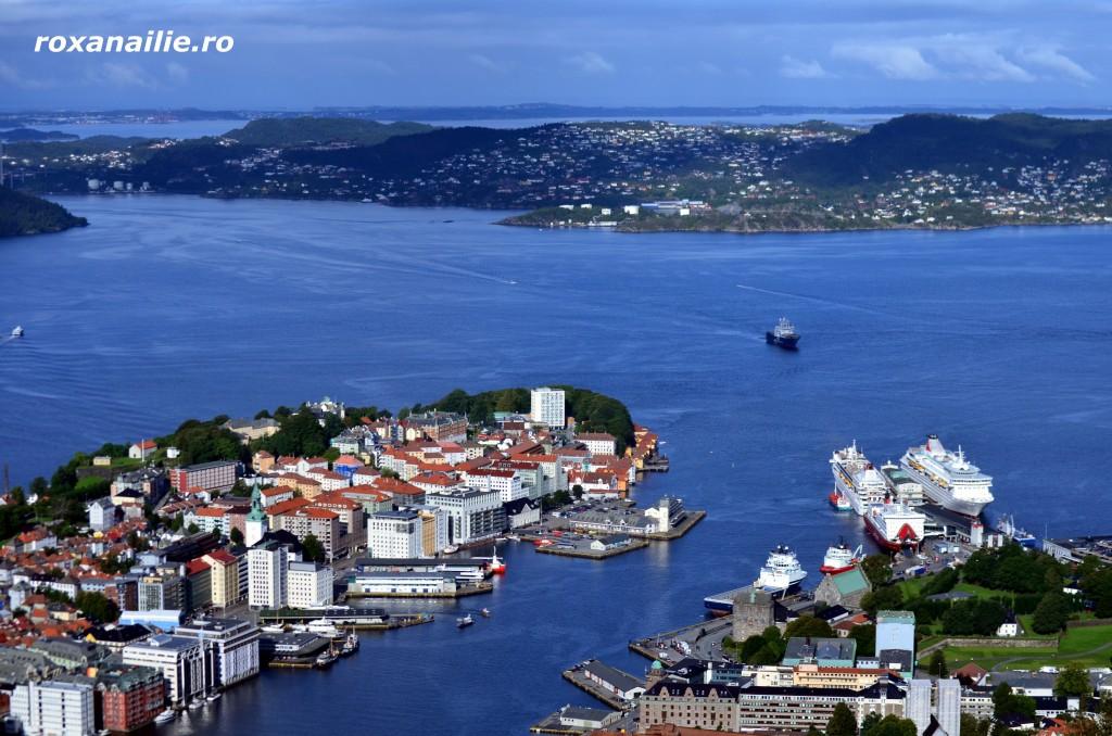 In Bergen apa modeleaza orasul si formele lui