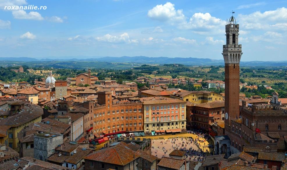 Panorama Sienei, încântare pentru ochi, libertate pentru suflet
