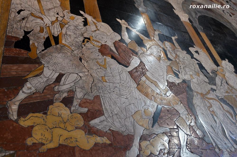 Măcelul inocenților, mozaic impresionant pe podeaua Domului din Siena