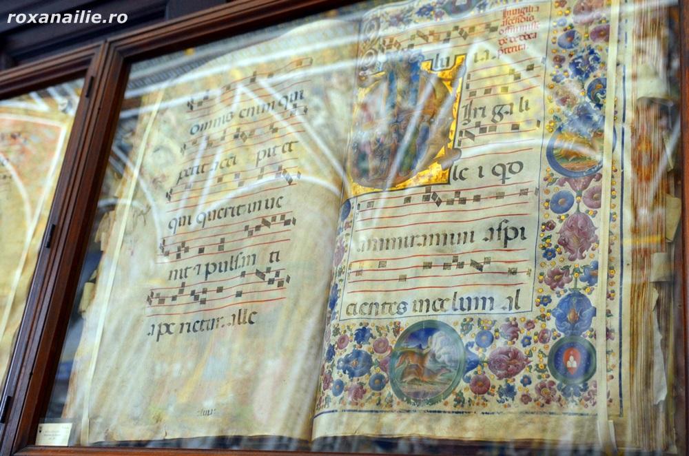 Manuscrise multicolore din Biblioteca Picollomini
