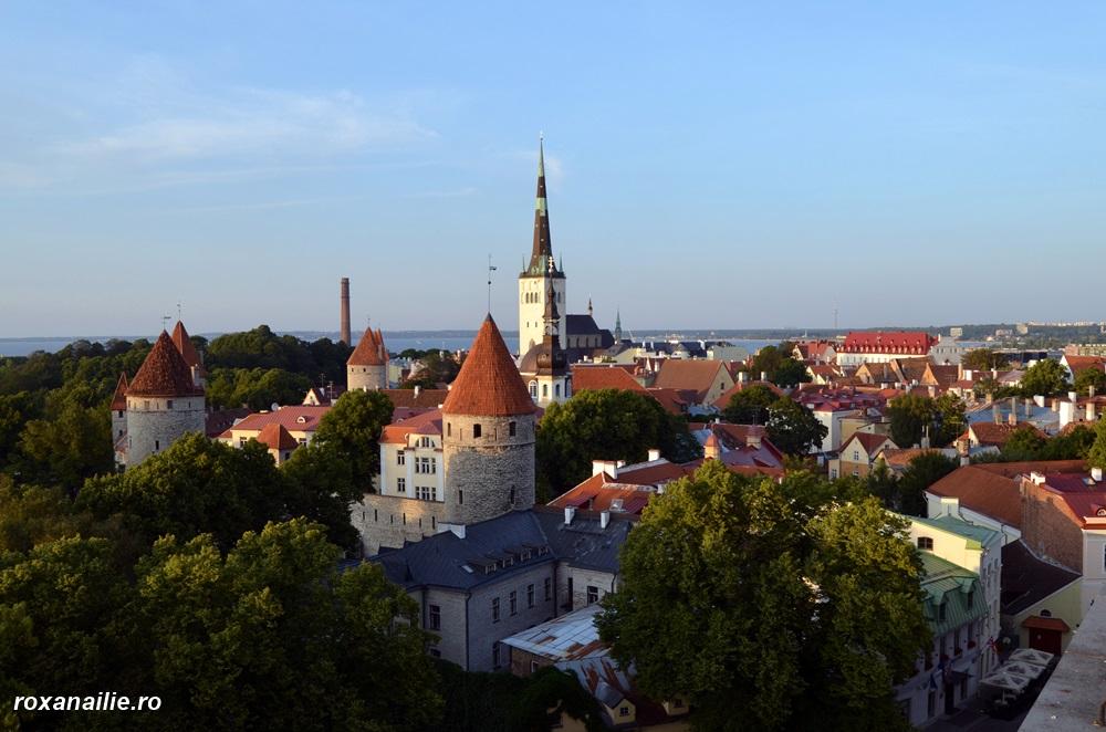 Panorama Tallinnului. Planând fericită cu privirea