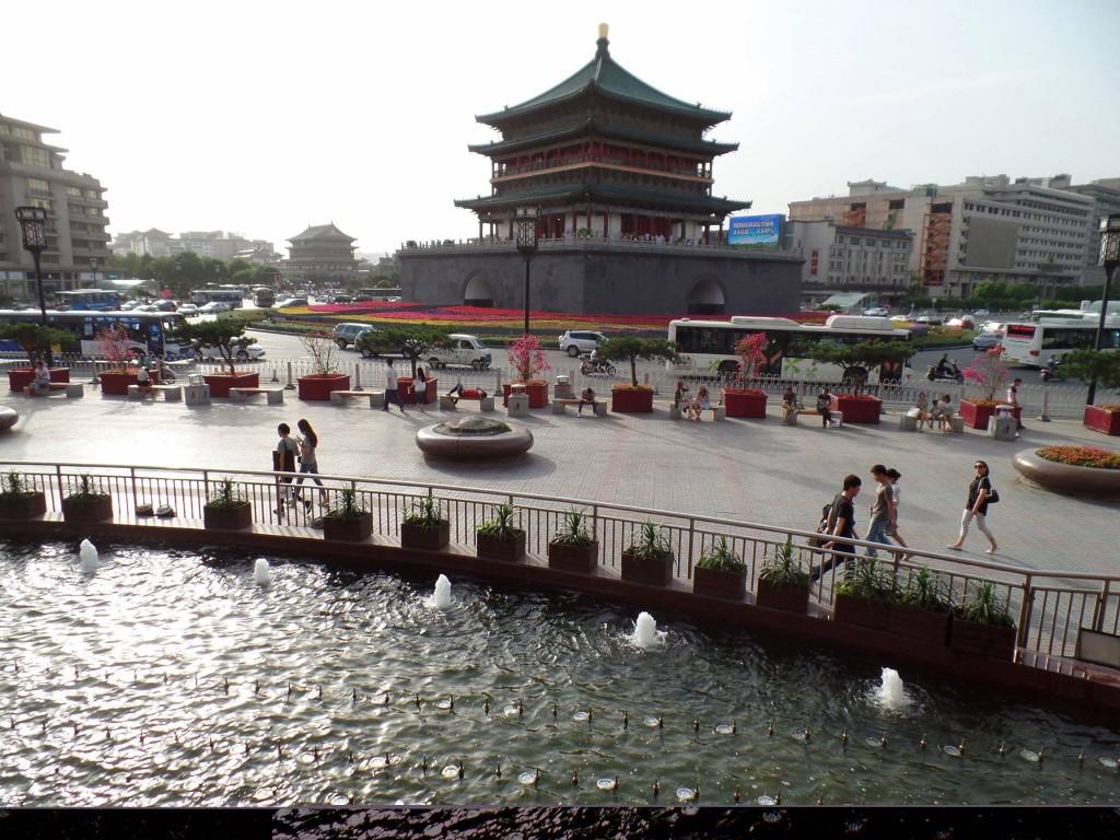 Turnul cu ceas din Xi'an, un reper importnt al orașului