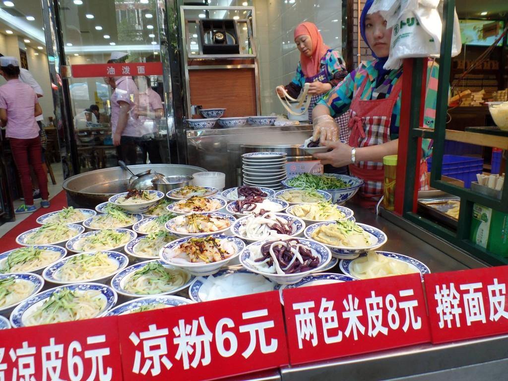 Aromele și gusturile bazarului din Xi'an, de neuitat